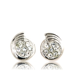 Picture of Clear button pierced earring
