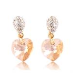 Picture of Love heart drop earrings