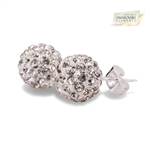 Picture of Shamballa stud earrings with Swarvoski elements