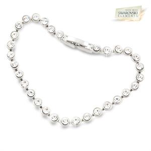 Athenafashion Tennis Bracelet With Swarovski Elements