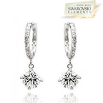 Picture of Sparkle Drop Earrings with Swarovski Elements