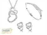 Picture of Crystal Love Heart Tri Set -S
