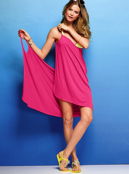 Athenafashion Strappy Crossover Beach Cover Up S