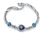 Picture of Crystal Love Heart Bracelet