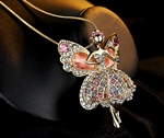 Picture of Shinne Crystal Angel Necklace